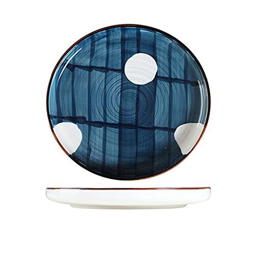 家族や友人のためのホームホテルのビジネスギフトに適したステーキ食器セラミック釉下プレート磁器ディナーセット,L-D