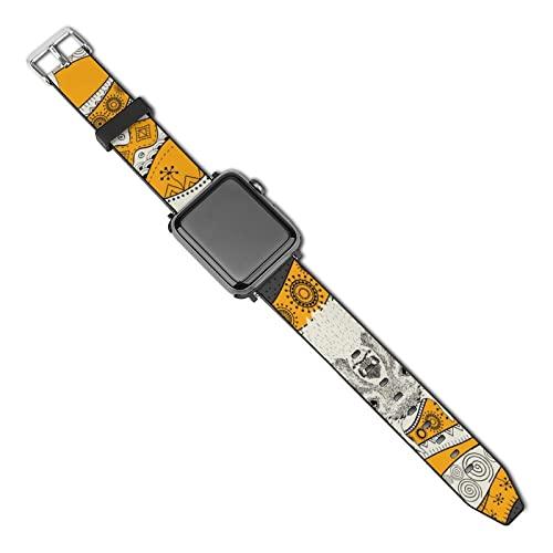 Compatibles Con Correa Apple Watch 44 Mm 42 Mm 40 Mm 38 Mm Ciervo Africano Correa De Repuesto Con Hebilla Clásica Para Iwatch Series 5 4 3 2 1 38mm/40mm