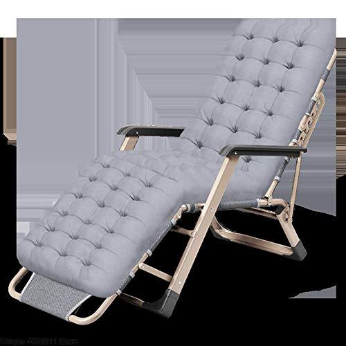 XDHN Tuinstoel, lounge, opvouwbare strandstoel, rugleunstoel, draagbare stoel, tuinstoel, kussen geschikt voor mensen die zich goed voelen.