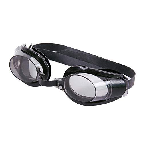 CFPacrobaticS 3 Pezzi Regolabili/Set Occhiali da Nuoto per Adulti Unisex Occhiali Naso Clip Tappi per Le Orecchie Set Occhiali Protettivi Antiappannamento Ad Alta visibilità Nero