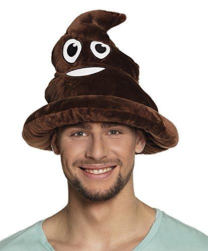 Divertido emoji emoticono, sombrero, artculo de broma con forma de caca