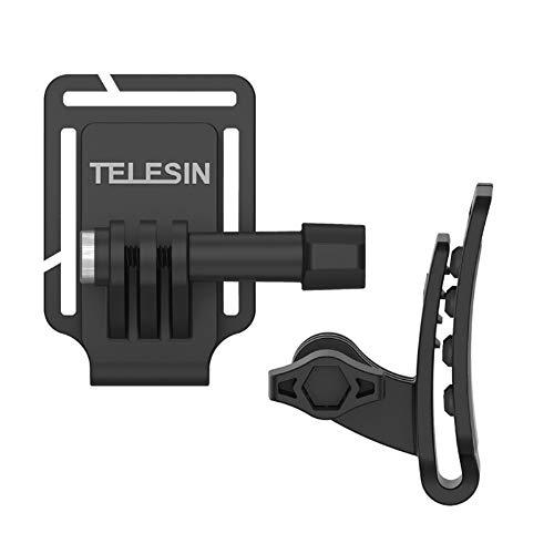 TELESIN 多機能アルミ製クリップ バックパック・ハット快速釈放クリップ ハットクリップ クランプマウントDJI OSMO Action/GoPro Hero7/6/5/4/3+/3/2/1/SJ4000/SJ5000/SJ6000に対応