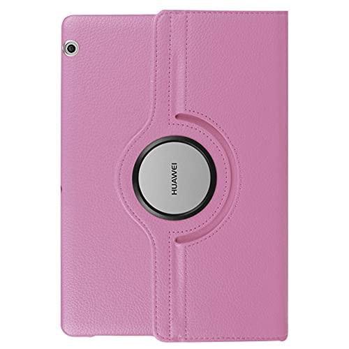 LIUCHEN Funda para tablet Huawei Mediapad T5 10 T3 9.6 '8 7.0 Wifi BG2-W09 AGS-W09/L09 KOB-L09/W09 360 Funda giratoria de piel sintética, rosa, T3, 8 KOB, L09 KOB, W09