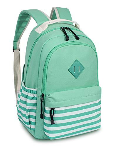 Leaper Canvas Backpack bag School Bookbags College Bags Daypack Water Blue