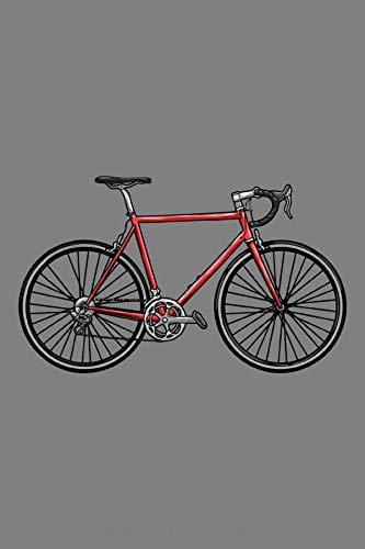 Notizbuch, 120 Seiten: Rennrad mit Sattel - Fahrrad Notizbuch - Tagebuch - Skizzenbuch - Schulheft für Frauen und Männer oder Kinder ( Mädchen / Jungen ) - Weißes Papier - 6x9 Zoll - Punktraster