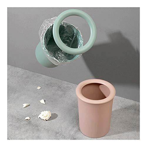 ZANZAN Poubelles Tube Long Trash Can Poubelle 1.3Gallon Capacité Dustbins intérieur, Poubelle for salles de Bains, salles d'eau, Cuisines, Accueil Corbeilles à Papier (Color : Green+Pinkish)