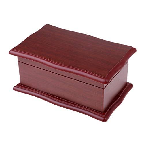 Caja de almacenamiento de madera hecha a mano del organizador del joyero de madera de 2 capas