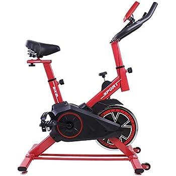 Grupo K-2 Riscko - Bicicleta Spining Dragon One | con Volante De Inercia 24 Kg | Cuadro de Acero | Manillar Ergonómico | Pulsómetro Integrado | Pedales Antideslizantes | Pantalla LCD | Color Rojo: Amazon.es: Deportes y aire libre