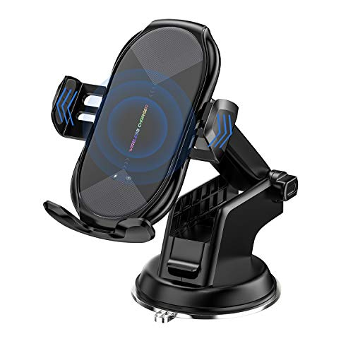 Wireless Car Charger Mount, Auto-Clamping Qi 10W 7.5W Fast Charging Car Phone...