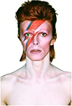 David Bowie with Red Hair and Red and Blue Painted Stripe on Face Shirtless 8 x 10 Inch Photo