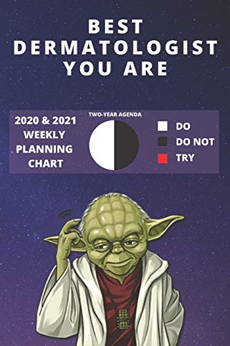 2020 & 2021 Two-Year Weekly Planner For Best Dermatologist Gift   Funny Yoda Quote Appointment Book   Two Year Agenda Notebook: Star Wars Fan Daily ... Day Log For Dermatology Career Goal Setting