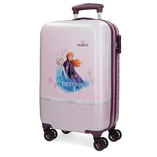 Disney Frozen La Reine des Neiges Spirits of Nature Valise Trolley Cabine Pourpre 37x55x20 cms Rigide ABS Serrure à combinaison 32L 2,5Kgs 4 roues doubles Bagage à main