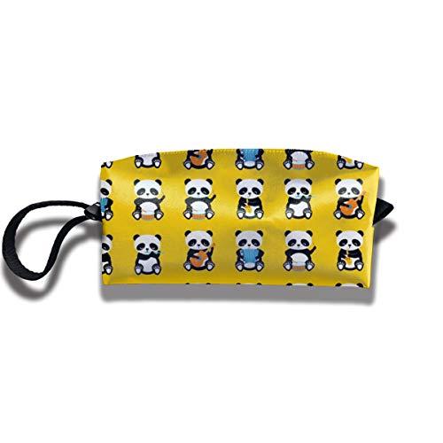 Bbhappiness Pouch Handbag Cosmetics Bag Case Purse Travel & Home Portable Make-up Receive Bag A Band Pandas