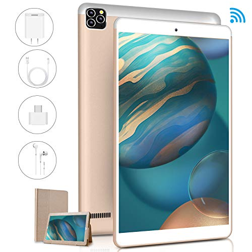 Tablet 10 Pulgadas 3GB RAM 32GB ROM/128GB, Android Go Google GMS Certificación Tableta Tres Cámaras de 8MP+5MP Cámara 8000mAh Tablets PC 4G WiFi Bluetooth OTG