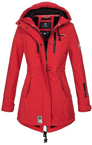 Marikoo Damen Winter Jacke Winterjacke Mantel Outdoor wasserabweisend Softshell B614 [B614-Zimt-Rot-Gr.S]