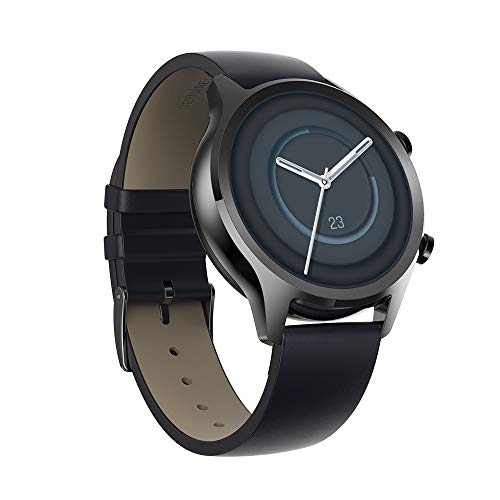 Ticwatch C2 Plus 1GB RAM Smartwatch Pagamenti NFC IP68 Impermeabile 1.3 Pollici Display AMOLED GPS Incorporato Fitness Cardiofrequenzimetro Google Assistant Compatibile Android e iOS Onyx