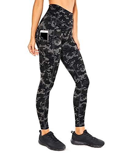 CRZ YOGA Mujer Naked Feeling Leggings Deportivas Cintura Alta Yoga Fitness Pantalones con Bolsillo-63cm Camo Multi 1 New2 38