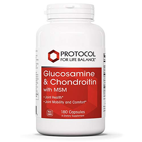Protocol For Life Balance - Glucosamine and Chondroitin with MSM - 180 Capsules