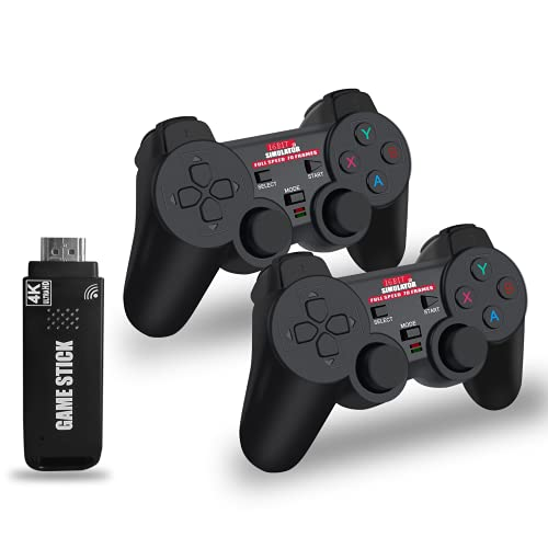 EASEGMER Wireless Retro Games Console with 4K Output- Dual Super Controller Gamepad Joystick Built-in 5,000 HD Games, Classic Controller Joypad Gamestick for TV/PC/Projector, Best Gift for Men & Kids