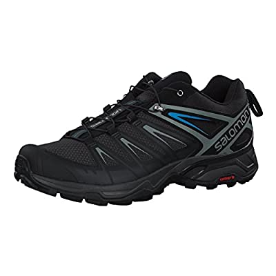 Salomon Men's X Ultra 3 Hiking Shoes, Phantom/Black/Hawaiian Surf, 11