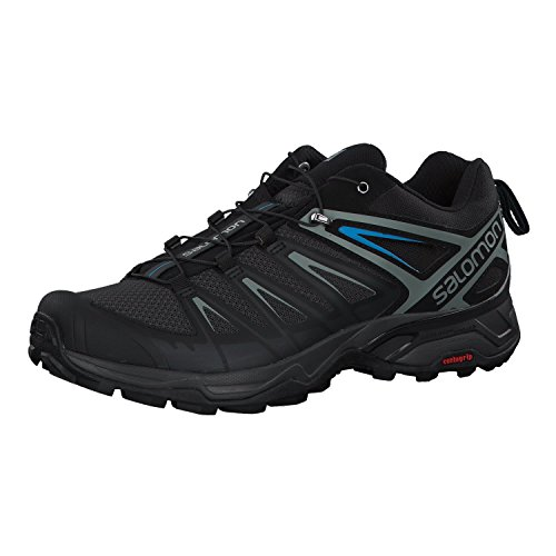 Salomon Men's X Ultra 3 Hiking Shoes, Phantom/Black/Hawaiian Surf, 12