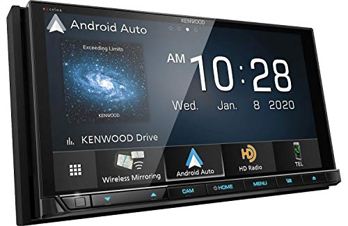 Kenwood Excelon DDX9907XR 6.8' Capacitive Touch Panel DVD Receiver with Bluetooth & HD Radio | 6.8' High Definition Monitor | With Apple CarPlay and Android Auto