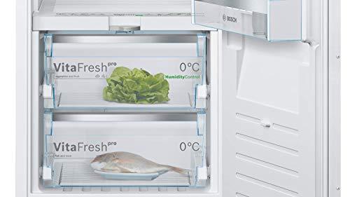 Bosch KIF52AFF0 Serie 8 Einbau-Kühlschrank mit Gefrierfach / F / 140 cm Nischenhöhe / 219 kWh/Jahr / 189 L Kühlteil / 15 L Gefrierteil / VitaFresh pro / VarioShelf