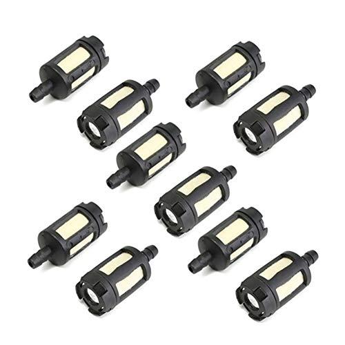 XCQ 10 stücke Kettensäge Kraftstofffilter, Ölfilter, Autos und Motorräder, hochwertige Autos und Motorräder langlebig 0606 (Color : Black)