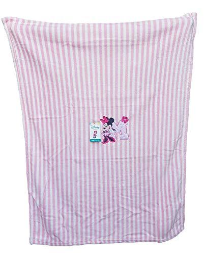 Couverture bébé en polaire douce brodée 75 x 100 cm berceau (landau). Disney - Minnie Col. 4000 Rose
