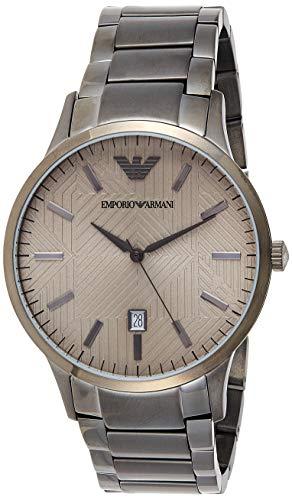 Emporio Armani Herren Analog Quarz Uhr mit Edelstahl Armband AR11120