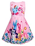 Girls Unicorn Birthday Party Dress Costumes Fancy Dress up (Pink, 6-7Y)