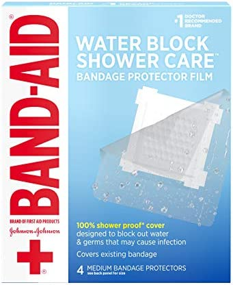 Band Aid Brand First Aid Water Block Shower Care Clear Bandage Protector Bandage Cover to Block product image