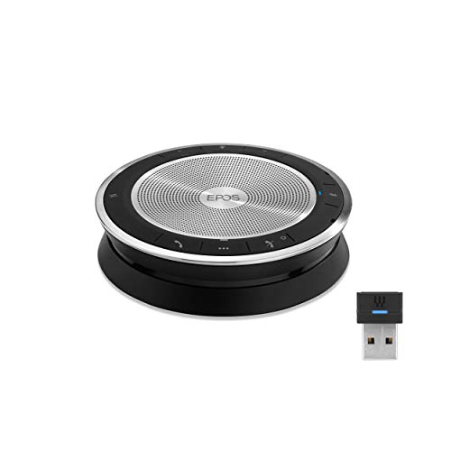 EPOS EXPAND SP 30+ (1000224) Portable Bluetooth Speakerphone | Instant Conferencing Anywhere | Sound-Enhanced | PC, Mobile Phone & Softphone Connection | Skype for Business Certified, Black