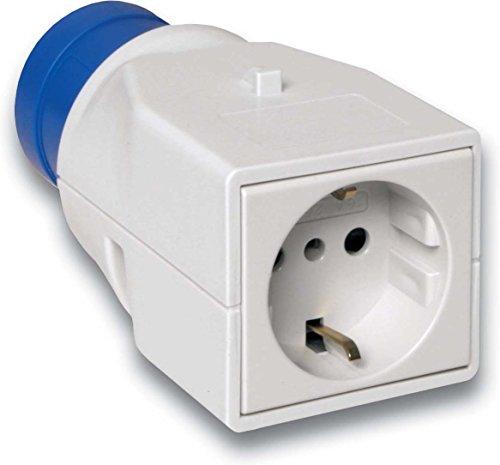Schneider PKZA203 adapterstekker PK, CEE, 1 stopcontact voor Duitsland, 16A, 2p+E, 230 V AC