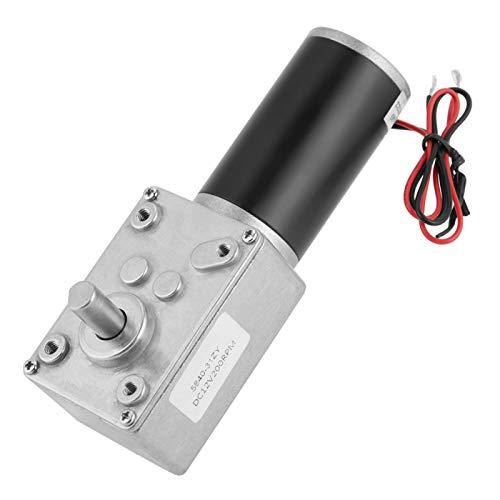 Motor de engranaje helicoidal Turbo de 12 V 200 RPM Motor de engranaje de alto par de CC de imán permanente para micro abridor de puerta