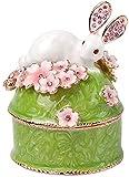 Creative Vintage Metal Aleación de Conejo Diseño Joyería Caja de Joyería Tarifa Caja Joyería Organizador Cajas de almacenamiento Regalo de cumpleaños de Navidad