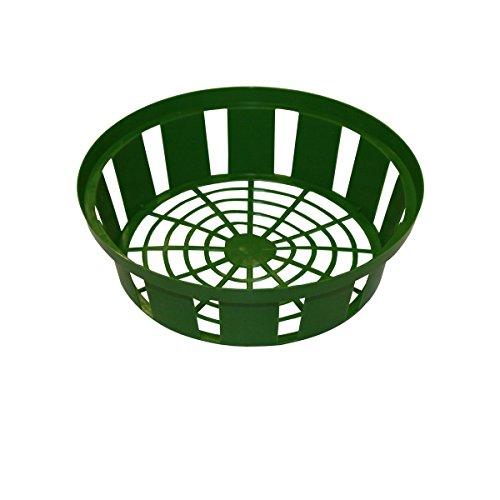 Xclou bloemenuien-plantenbak in groen, uien-plantenmand van kunststof met een diameter van 21 cm in set van 3, plantenbakken voor bloembollen, 3 plantenbakken voor uien voor de tuin