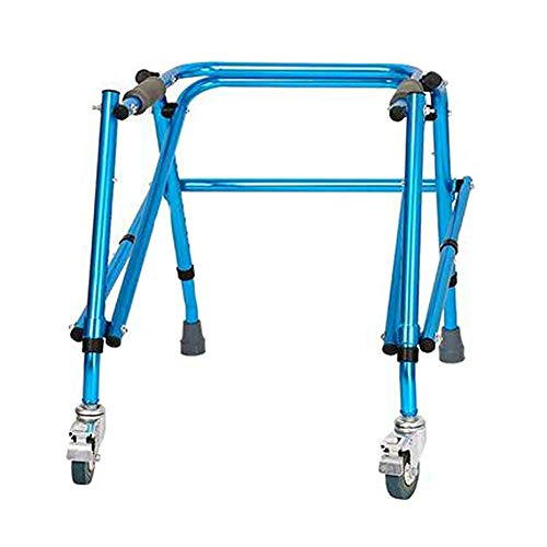 XCY Gehhilfe Medical Instruments Folding Aluminiumstruktur Walker, Tragbare 2 Caster Hilfs Walker