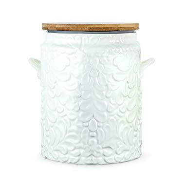 Twine Pantry Textured Ceramic Cookie Jar, White
