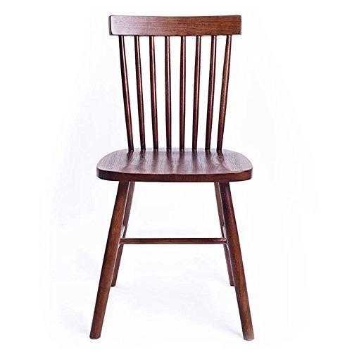 KFXL yizi Chaise en bois massif à manger chaise Home dossier Restaurant Casual Cafe chaise bureau chaise en bois 9 couleurs en option (Couleur : J)
