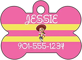 uDesignUSA Disney Toy Story Jessie Dog Tag Pet Tag Id Personalized w/Name & Number