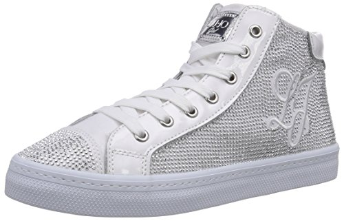 Liu Jo Sneaker, Sneaker Alta Bambina, Bianco (Weiß (Bianco)), 32