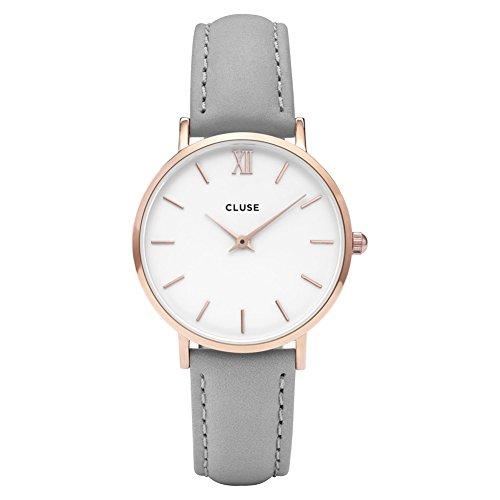 Cluse Damen Armbanduhr Analog Quarz Leder CL30002