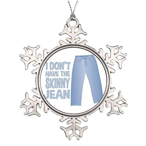 Cukudy Skinny Jean fotolijst Kerstbroek Kerstmis Sneeuwvlok Ornament Gift voor Vrouwen Mannen Man Vrouw Vrienden Gils Jongens
