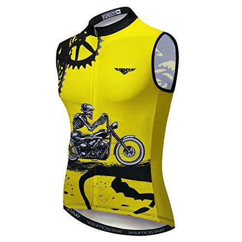 weimostar Maillot de ciclismo de los hombres de la bicicleta sin mangas...