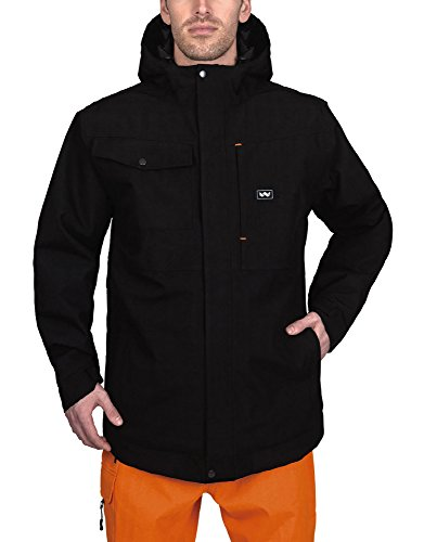 Walls Men's Modern Work Insulated Rain Jacket, Midnight Black, 2X