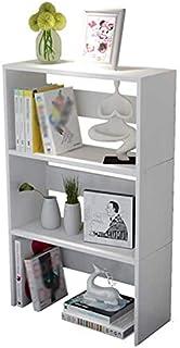 Baibao Escritorio estantería 3-Tercer Escritorio Estante pequeño, Ordenador de Escritorio del Estudiante Librerías (Color: Rojo) (Color : White)