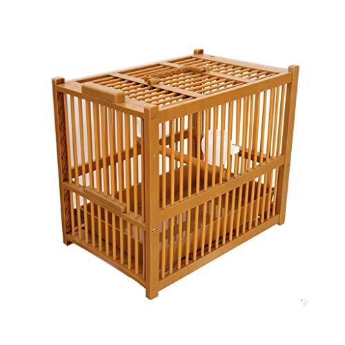 zxb-shop Casa de Pájaro Portátiles pequeños pájaros de tamaño de la Jaula de Viaje, bambú Jaula de baño de Aves de Jaula de Transporte Ligero, 25 * 40cm, Mascotas Jaula de pájaros Jaula Pájaros