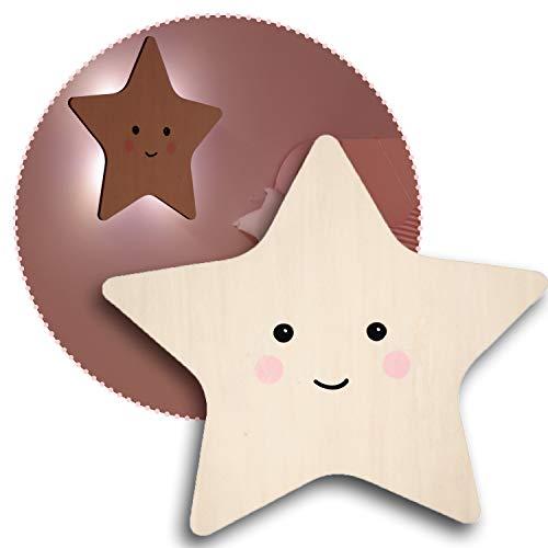 reer lumilu Silhouette Light Star, süßes Sternen-Wandlicht, tolles Taufgeschenk, Geburtstags-Geschenk für Jungen und Mädchen, braun, 52177