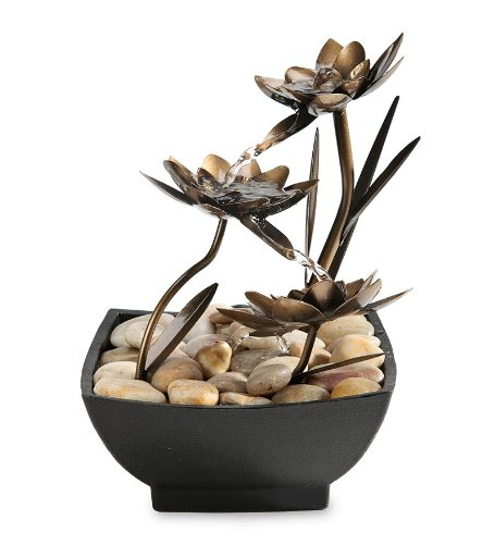 Wind & Weather Lotus Flower Metal Fountain